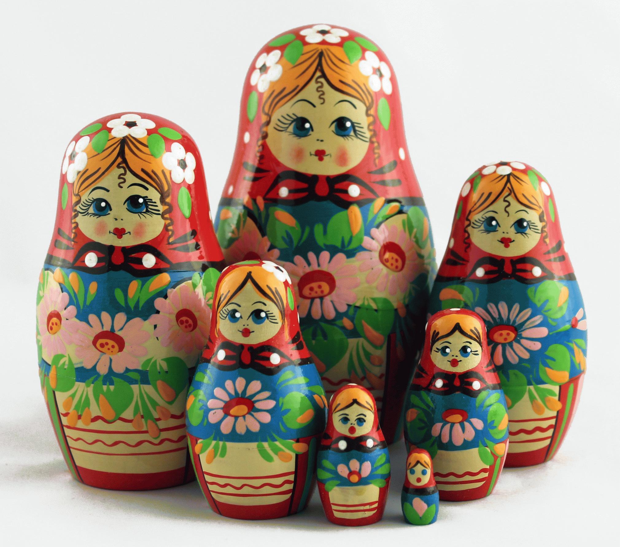 俄罗斯套娃与花 (7004)