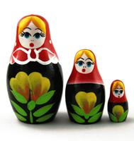 Flowers Russian matryoshka
