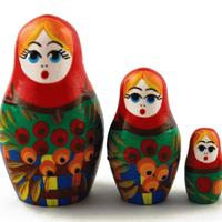 Matryoshka wood dolls
