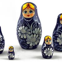 Dark blue stacking dolls