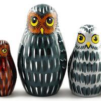 Owls nesting dolls