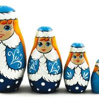Snow Maiden nesting dolls