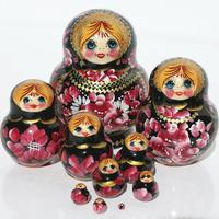 Red flowers dolls