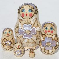 Flowers wooden dolls