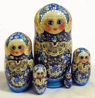 Blue stacking dolls