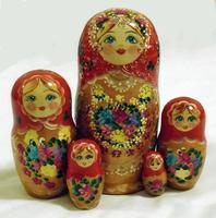 Flowers stacking dolls