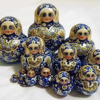 Blue matryshka
