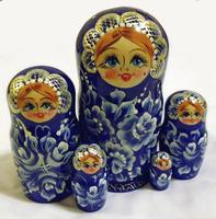 Blue nesting dolls