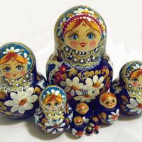 Matryoshka with flowers