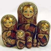 Carved nesting dolls