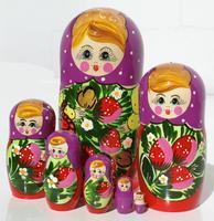 Violet matryoshka dolls