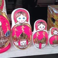 Red church dolls