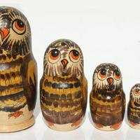 Brown owl dolls