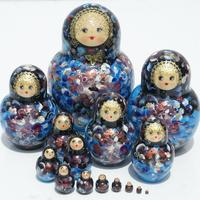 Blue matryoshka