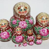 Red matryoshka doll
