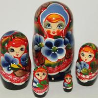 Matryoshka with Cornflowers