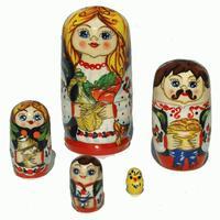 家族スタイルの入れ子人形