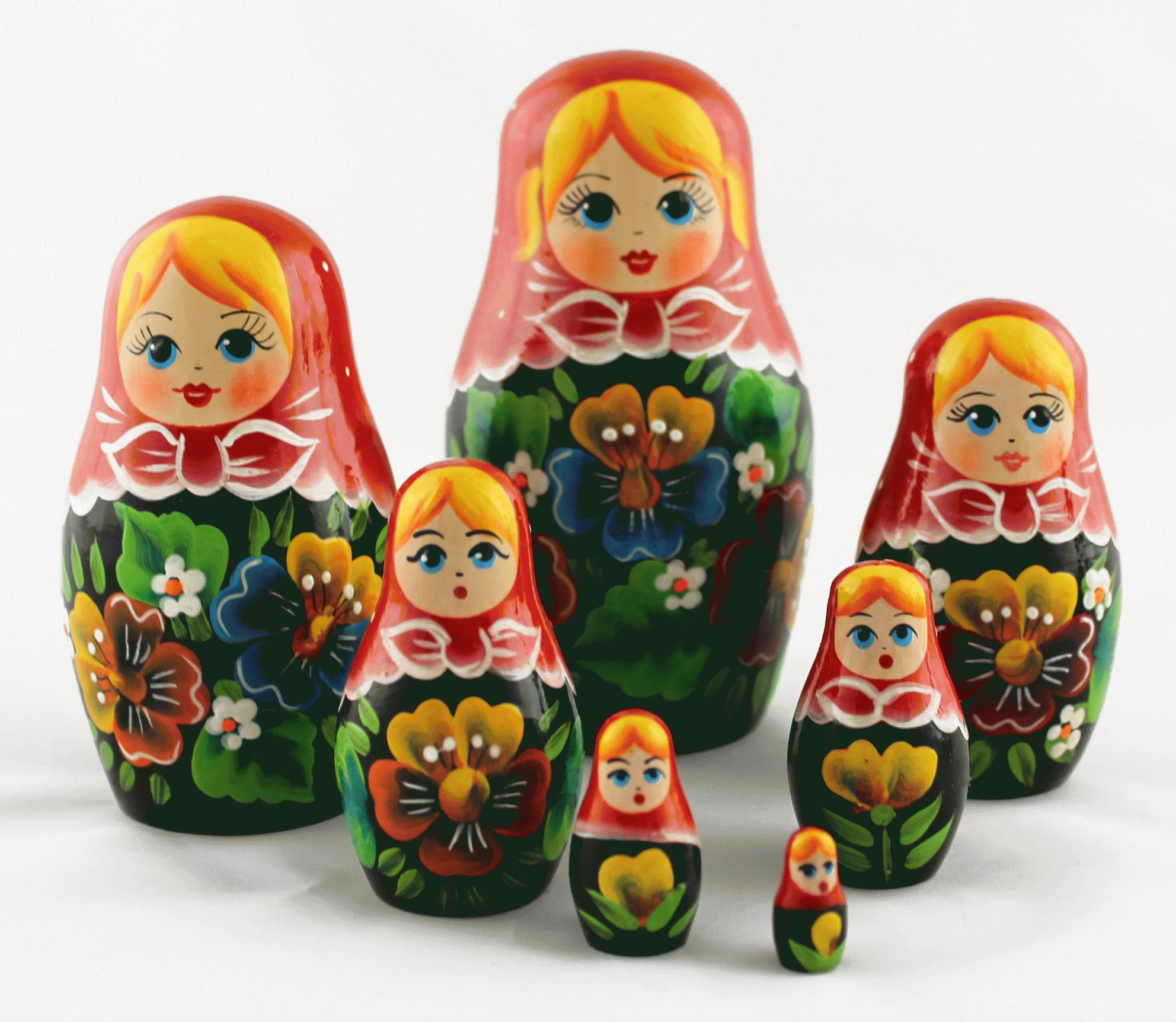 Детские картинки игрушки матрешки