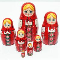 Red Matryoshka docka