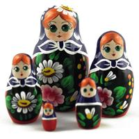 Dark blue nesting dolls