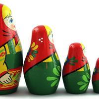 Tradycyjnych drewnianych lalek