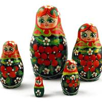 Matryoshka with rowanberry