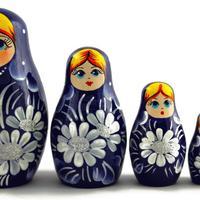 Темно синий укладки куклы
