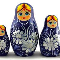 Dark blue stacking dolls