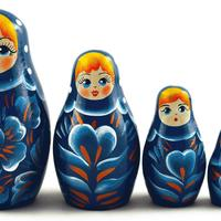 Синее платье куклы