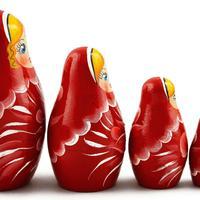 Czerwony gniazdowania lalek
