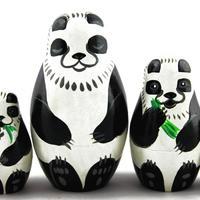 Bambole di nidificazione di Panda