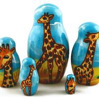 Giraffen Schachteln Puppen