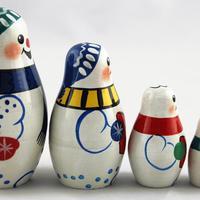 Снежни човеци, гнездене кукли