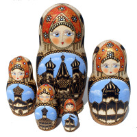 Church matryoshka wooden dolls