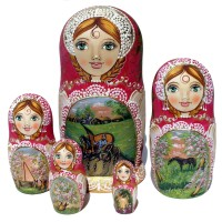 Літні дерев'яні ляльки ручної роботи