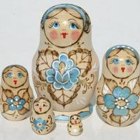 Matryoshka light blue color