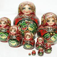 Traditional wooden dolls