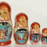 Fairy tale stacking dolls