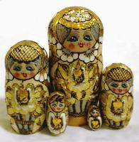 Matryoshka golden stil