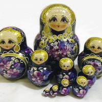 Violet nesting dolls