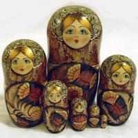Carved nesting dolls