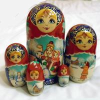 Vinter snø matryoshka