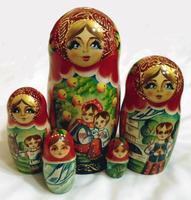 Rosyjskich Matrioszkach układania