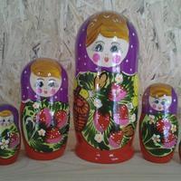 紫マトリョーシカ人形