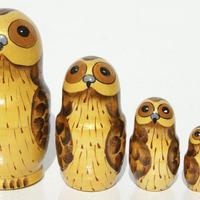 Brown owl matryoshka