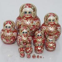 Red matryoshka dolls