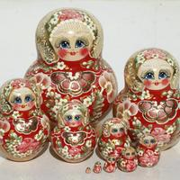 Red color matryoshka