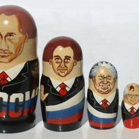 Políticos rusos matryoshka muñecas