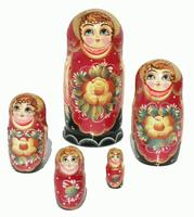 Red flower dolls